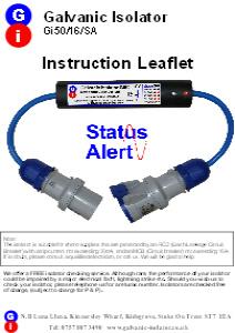galvanic isolator with monitoring lights instructions