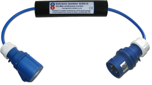 galvanic isolator zinc saver with 32amp connectors. Prevents galvanic corrosion to boats hull, fittings and stern gear