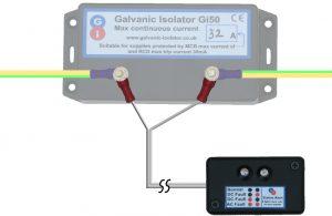 how to wire status alert to galvanic isolator