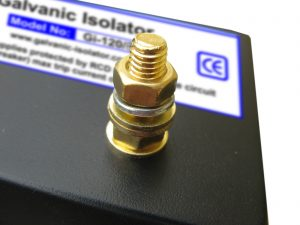 galvanic isolator stud detail showing how cables are connected to protect boats hull against galvanic corrosion