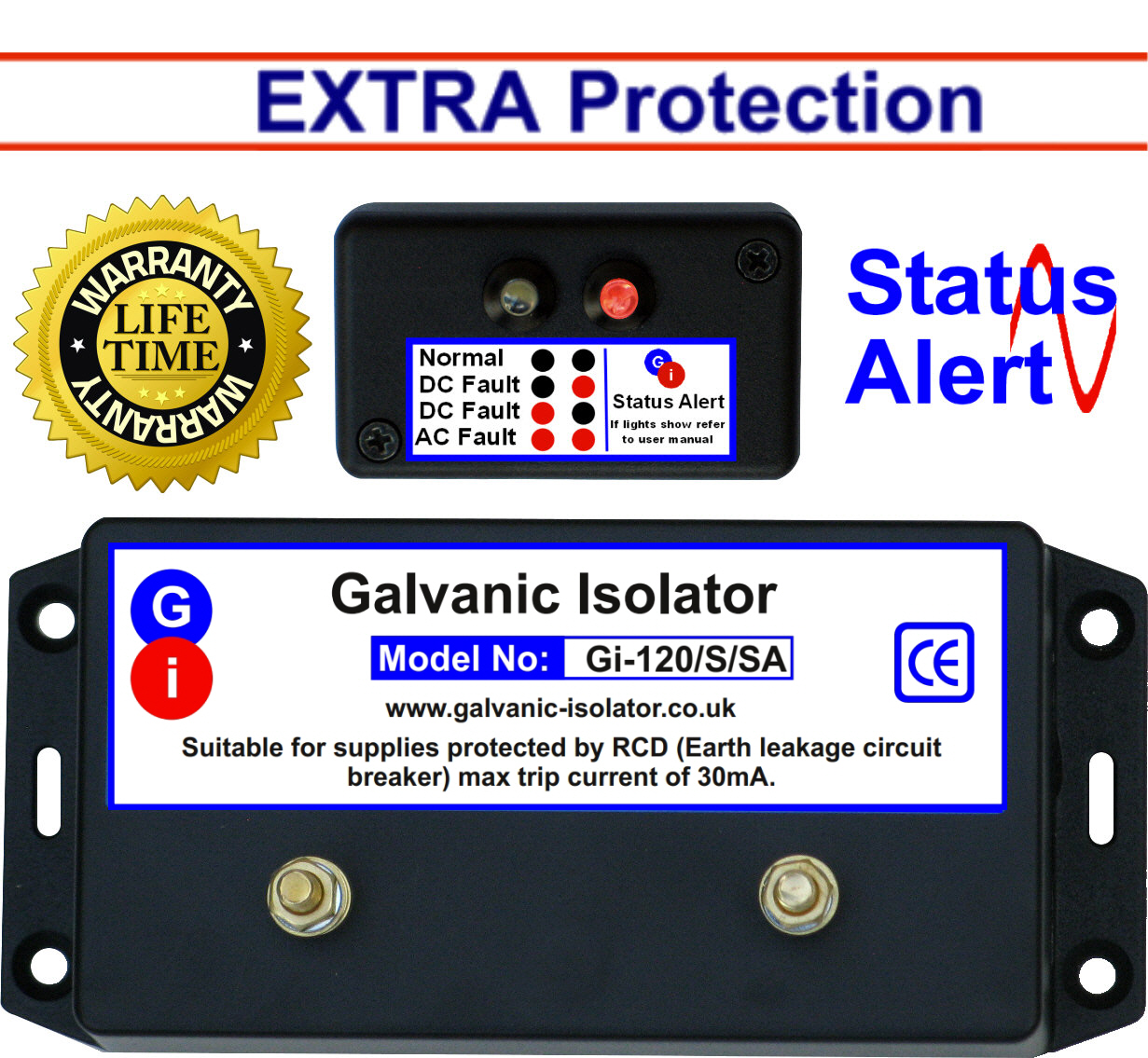 Galvanic Isolator - Wire In - Extra Protection - Status Alert on