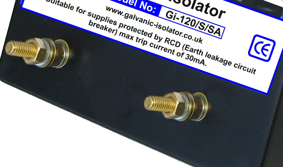galvanic isolator zinc saver connection detail. Shows connections. Zinc saver connections to fault indicator