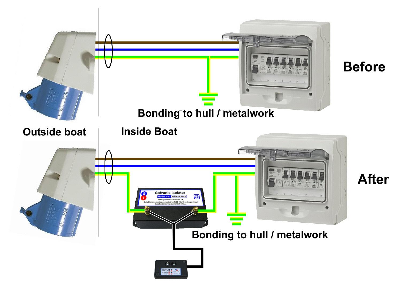 galvanic isolator status indicator wiring. Zinc saver wiring