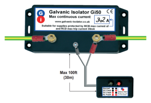 how to connect up galvanic isolator on narrowboat