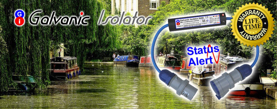 galvanic isolator for canal boat