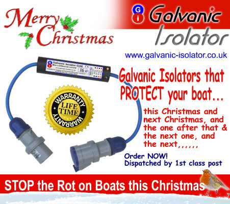 Galvanic isolator for narrowboats