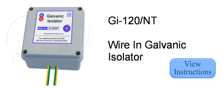 Instructions for Galvanic Isolator Gi-120/NT