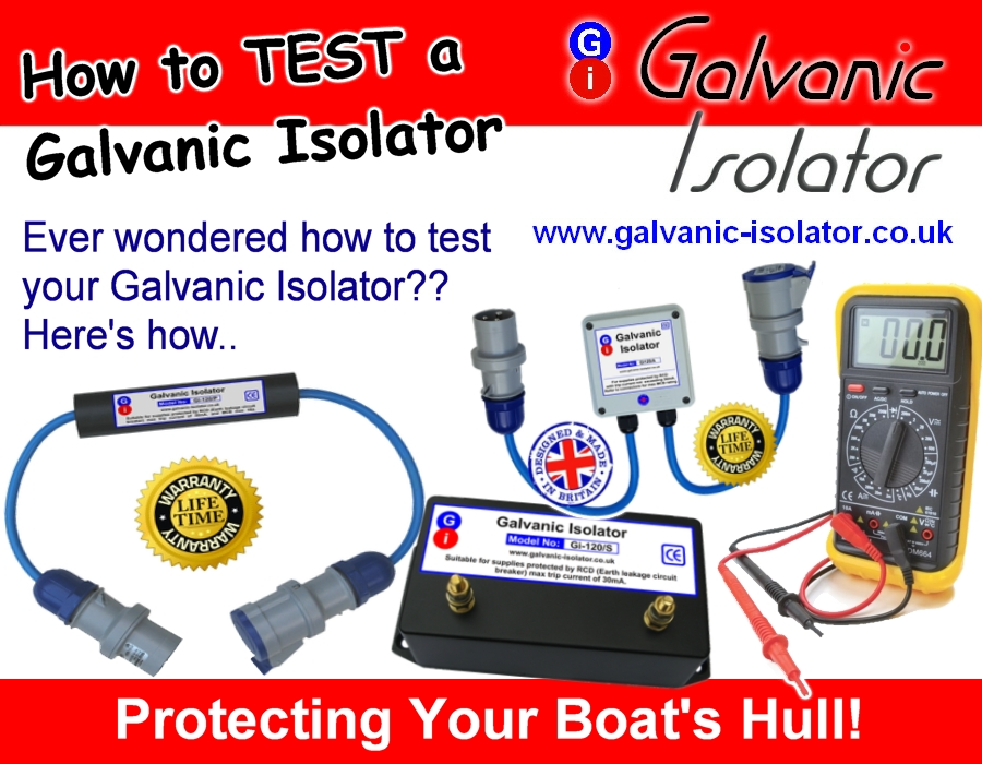 how to test a marine galvanic isolator