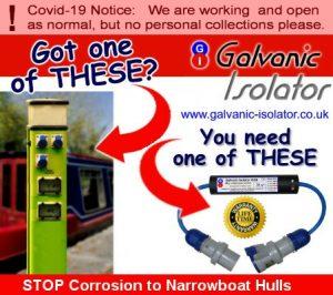 marine galvanic isolator for narrowboats