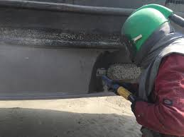 galvanic isolation on boats grit blasting before applying a coating