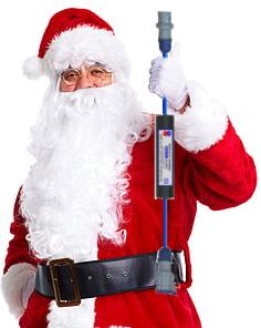 santa holding galvanic isolator