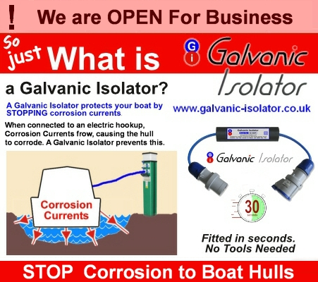 hull corrosion stopped with galvanic isolator