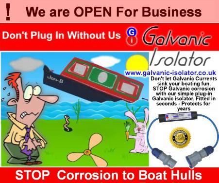 galvanic isolators for hull protection